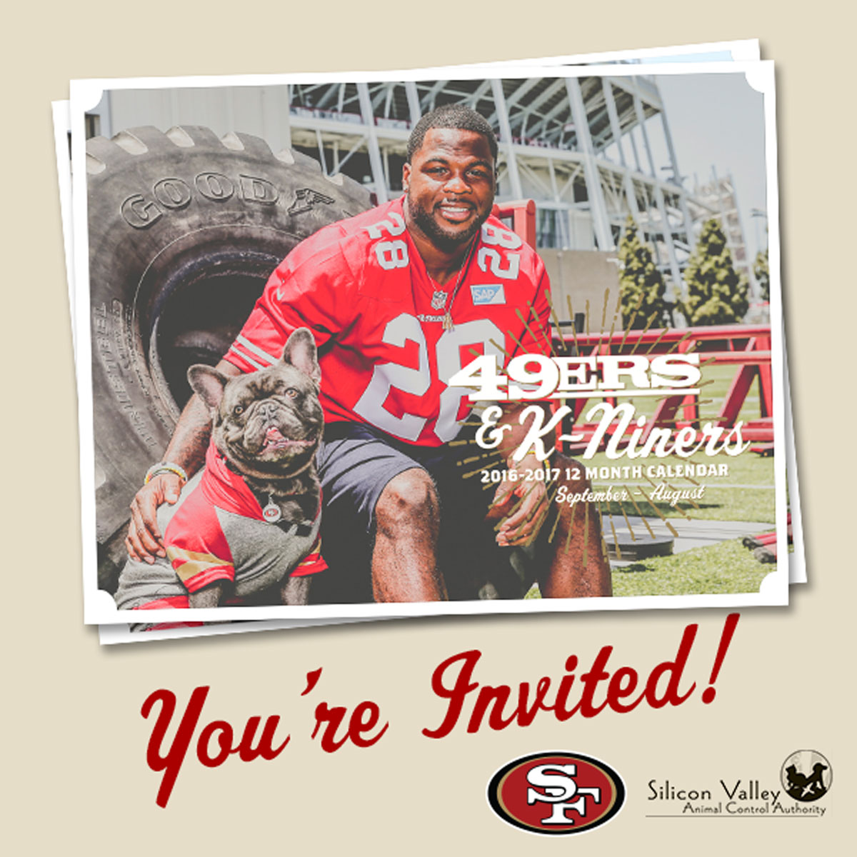 49ers Calendar Release Party at SVACA!
